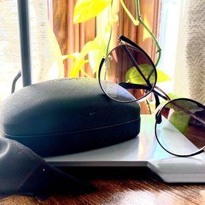 Salvatore Ferragamo Black and Silver Sunglasses